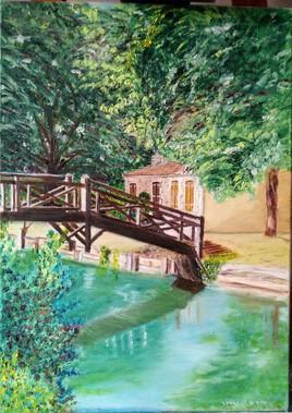 Petite maison et son pont