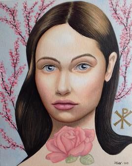 - Jeune fille slave - (aquarelle)
