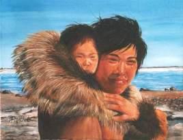 Mère Inuit et son bébé