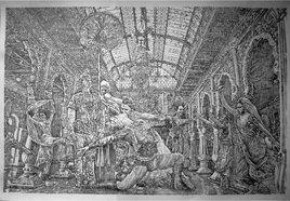 Amour et trahison. Crayon HB sur papier Ingres – 100 cm x 100 cm