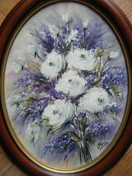 Aquarelle du jour : bouquet roses