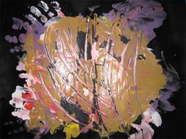 Mains dans la peinture
