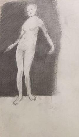 D114 Femme nue au collier