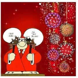 revisite de Gelluck qui fête Noel 2020 à sa façon :))