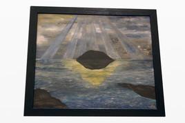 Peinture abstraite sur plexiglas «54px» - signe albert derriennic