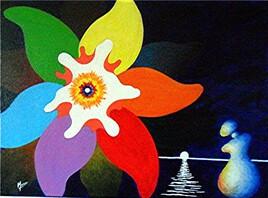 """Vide atelier - Peinture moderne - """"Silhouette et Fleur"""" -"""
