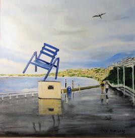 La chaise bleue de Nice