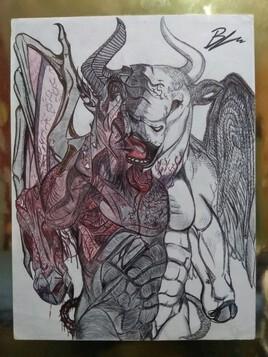 Minotaure Ange et Démon