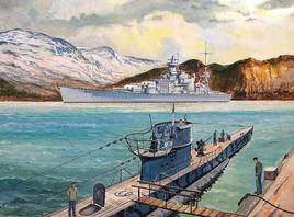 Dans un fjord norvégien en 1941.