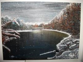 Peinture de la neige