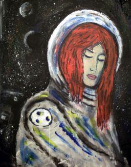 """Laureline in space"""
