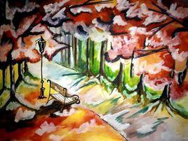 paysage automne hiver