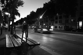 Nuit, vitesse, boulevard du Montparnasse