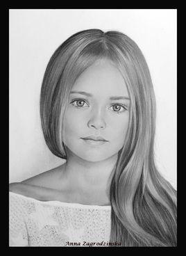 Dessin, portrait d'une fille