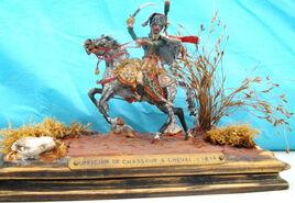 Officier à cheval de la garde impériale 1814