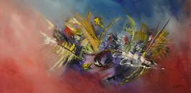 Peinture abstraite à la peinture acrylique : Inmoratum