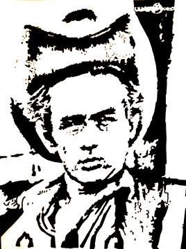 James Dean en noir et blanc