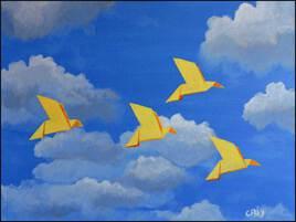 les oiseaux en papier