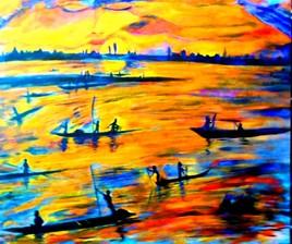 Pêcheurs de Mopti fleuve Niger MALI
