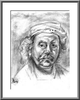 Rembrandt profil droit