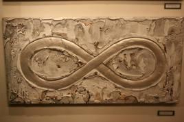 Tableau de ciment abstrait de l'infini sculpté