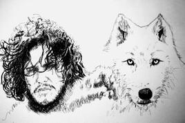 J Snow et son loup got
