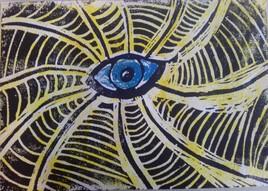l'œil bleu