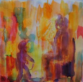 Tableau aquarelle 15cmx15cm n°015AQ
