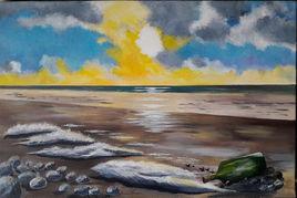 Coucher de soleil dans le sud Finistère