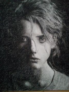 Portrait d'une jeune fille.