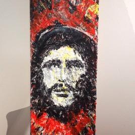 """Che, 9""""x19"""" acrylique"""