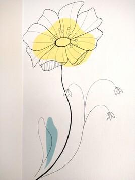 Fresque florale