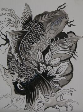 carpe koï tatouage
