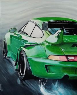 Porsche verte