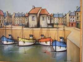 port en marée basse