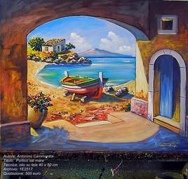 portique sur la mer