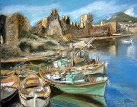 bateaux en Grèce