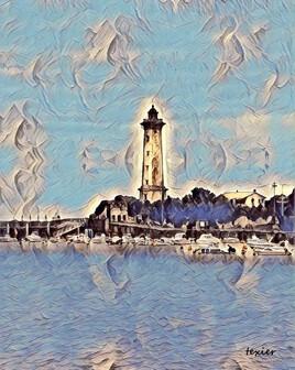 Le phare de  Vallières St Georges de Didonne Charente Maritime