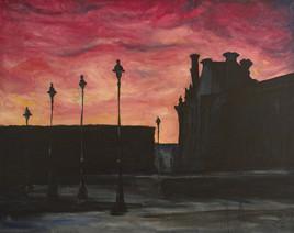 Le Louvre au crépuscule