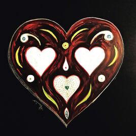 Coeur de feu / Painting A fired heart