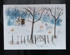 la cabane en hiver