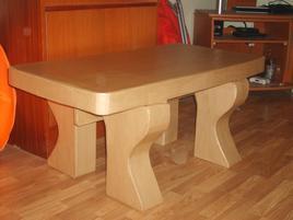 Table basse carton brut