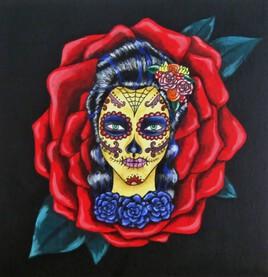 Santa Muerte Rosa Tattoo