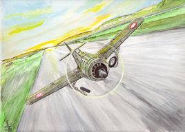 NC900 au décollage