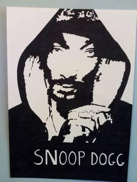 Snoop Dogg en portait noir et blanc