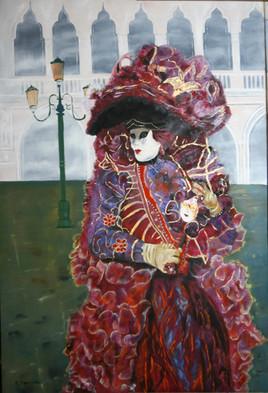 Peinture Sous le velours (Carnaval de Venise)