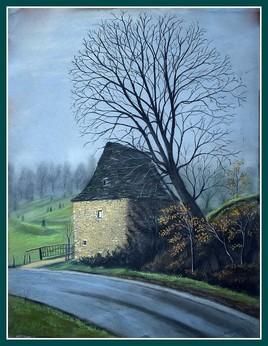 La vieille maison en hivers