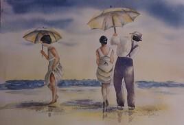 Mode d'antan à la plage
