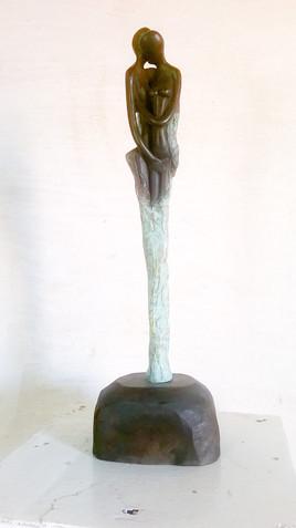 Couple en bronze
