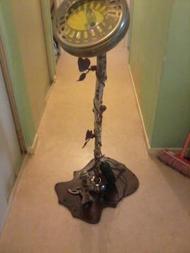 lampe fait en bois et metal original